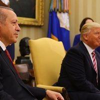 Trump ile yapılan görüşmenin ardından Beştepe'den açıklama!