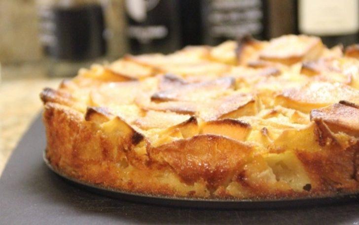 Шарлотка на кефире с яблоками рецепт с пошагово самый воздушный