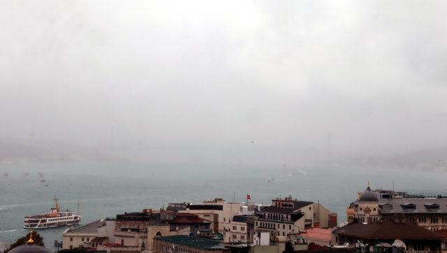 İstanbul'da yağmurdan büyüleyici görüntüler