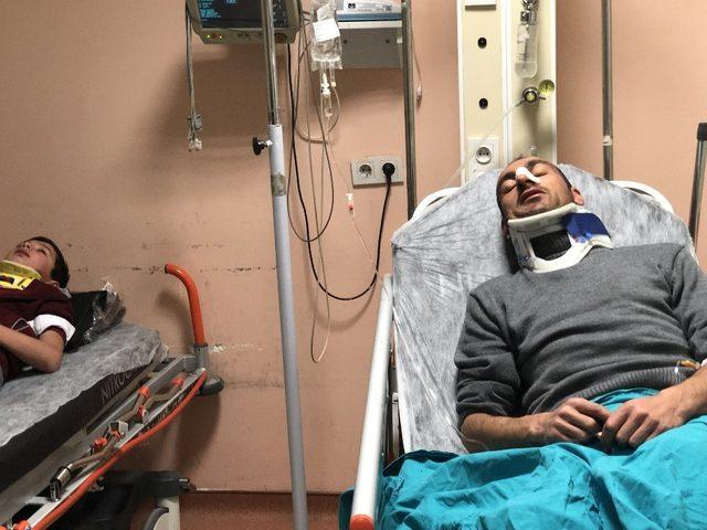 Kars Valisi kazada yaralananları ziyaret etti