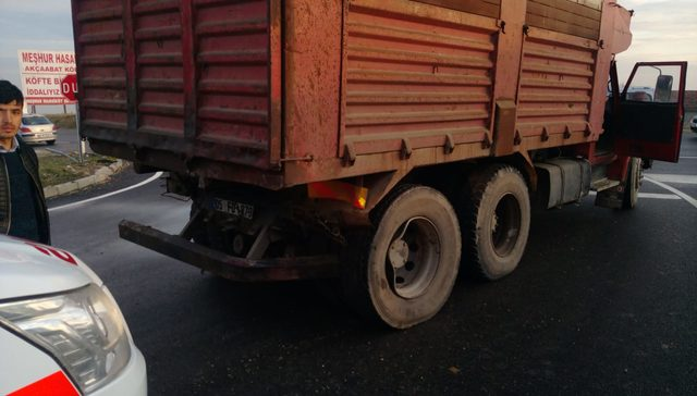 Merzifon'da zincirleme kaza: 1 ölü, 1 yaralı