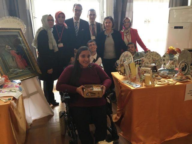 Çorumlu özel öğrenciler İsviçre büyükelçiliği'nde
