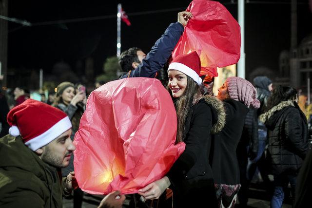 Taksim Meydanı'nda yeni yıl coşkusu