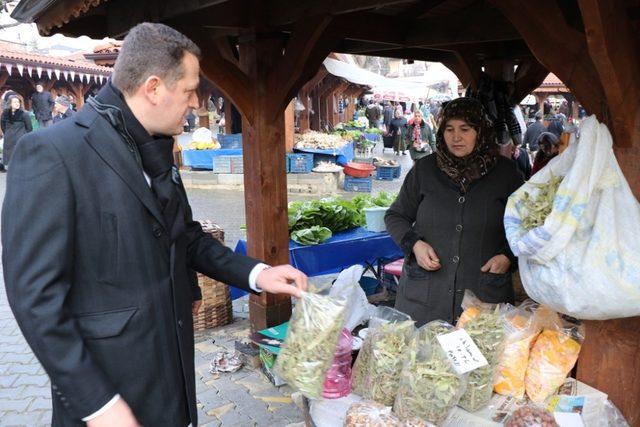 Ürkmezer pazar esnafını ziyaret etti