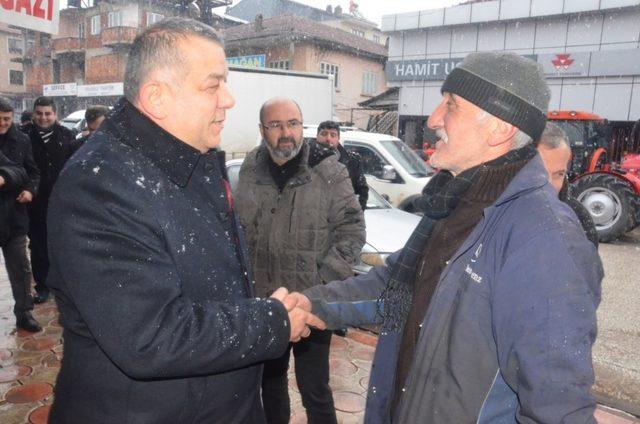 Başkan adayı Erdoğan Bıyık sanayi esnafını ziyaret etti