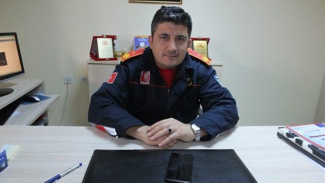 Burhaniye'de Sami Yörüker İtfaiye Grup Amiri oldu