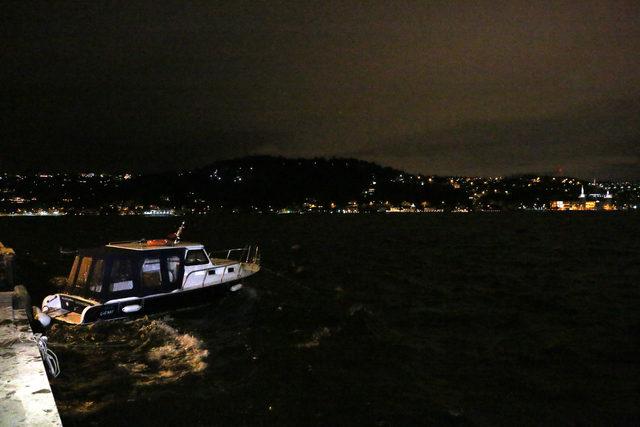 Boğazda fırtına engeli; çift yönlü olarak gemi trafiğine kapatıldı