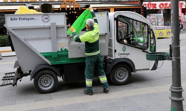 Çankaya'da 518 bin ton çöp toplandı