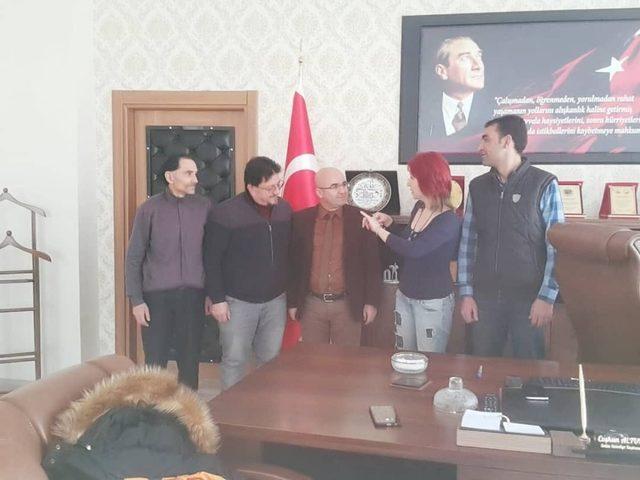 İşitme Engelliler Derneği'nden Selim Belediyesi'ne ziyaret