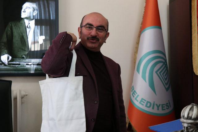 Edirne'de pet şişe getirene, bez torba hediye