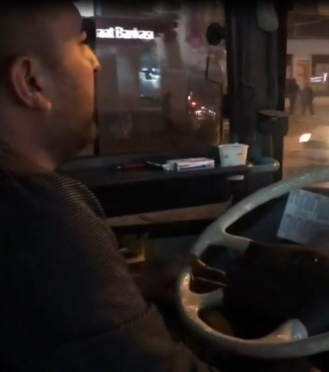 Yolcu çaldı, şoför söyledi
