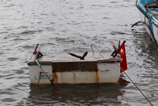 Bodrum'da sağanak ve şiddetli rüzgar hayatı olumsuz etkiliyor