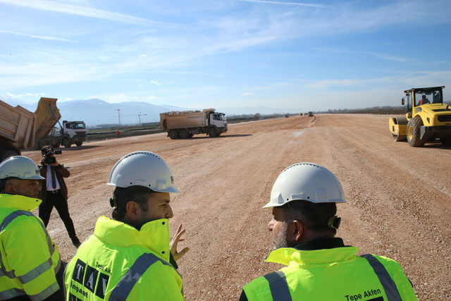 Tokat'ta yeni havalimanı inşaatının yüzde 35'lik kısmı tamamlandı