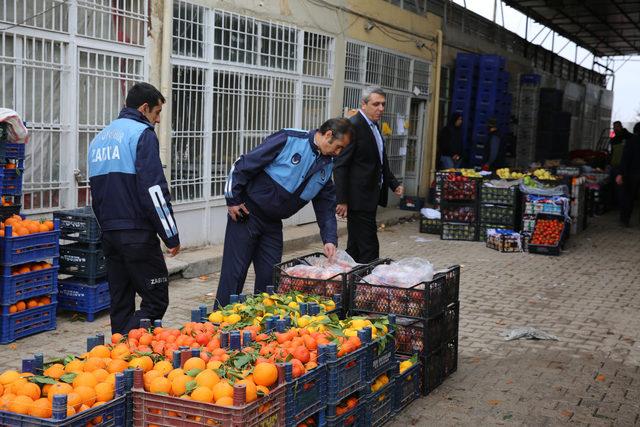 Mardin'de sebze hali ve marketler denetlendi