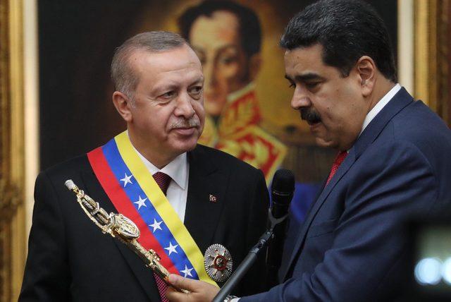 Aralık ayında Caracas'ı ziyaret eden Erdoğan'a