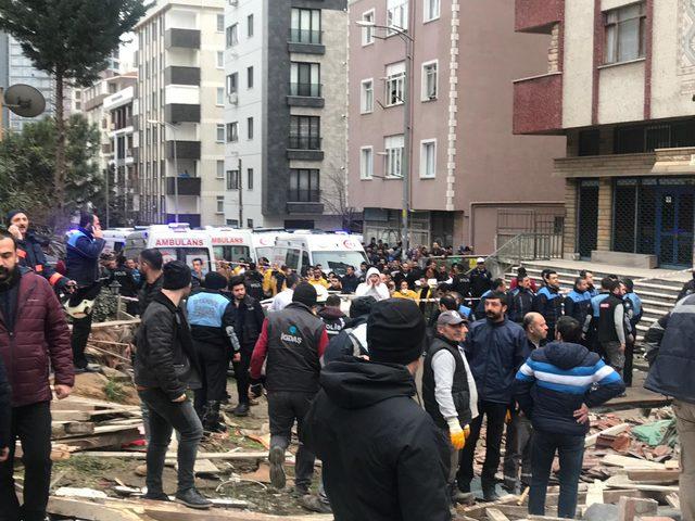 Kartal'da patlama sonrası 7 katlı bina çöktü (3)