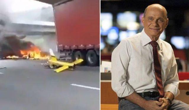 Ünlü sunucu Ricardo Boechat'in feci ölümü! Helikopter kamyonun üzerine düştü