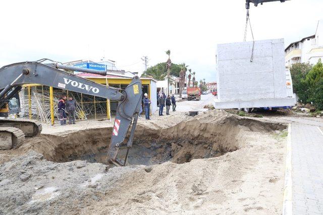 Burhaniye'de sel baskınlarına tedbir