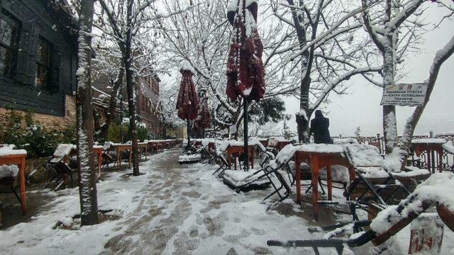 Pierre Loti tepesinde kar manzaraları
