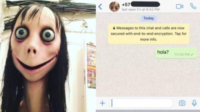 Momo, Meksika ülke uzantılı bir telefon numarası üzerinden atılan mesajlara cevap verebiliyor.