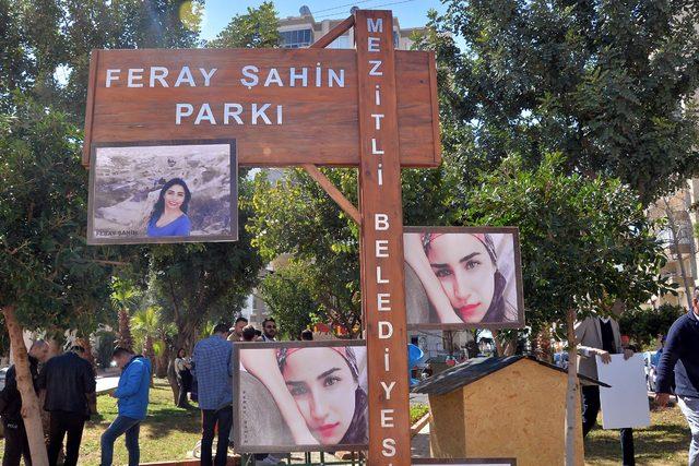 Ferah Şahin, isminin verildiği parkta anıldı
