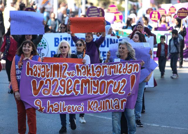 Kadınlar 'nafaka hakkı' için yürüdü