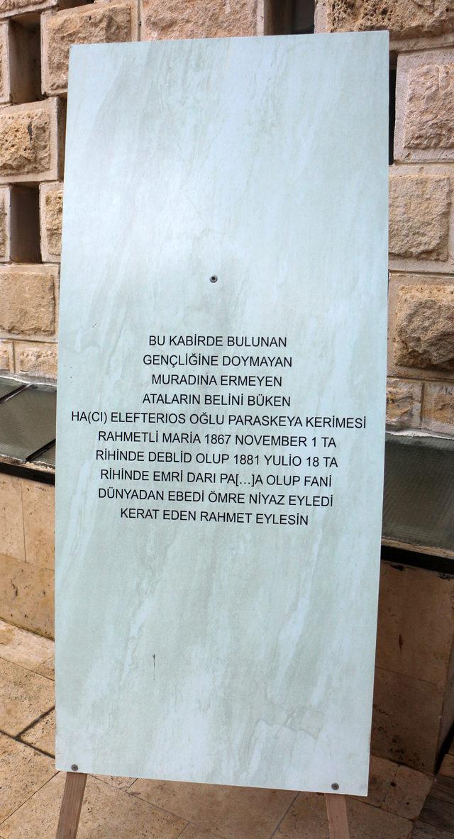 Şeker tezgahı mermer, 138 yıllık mezar taşı çıktı