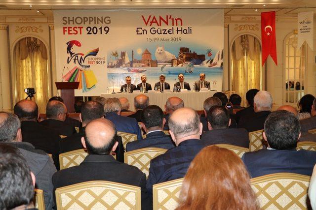 Van'da Shopping Fest lansman toplantısı