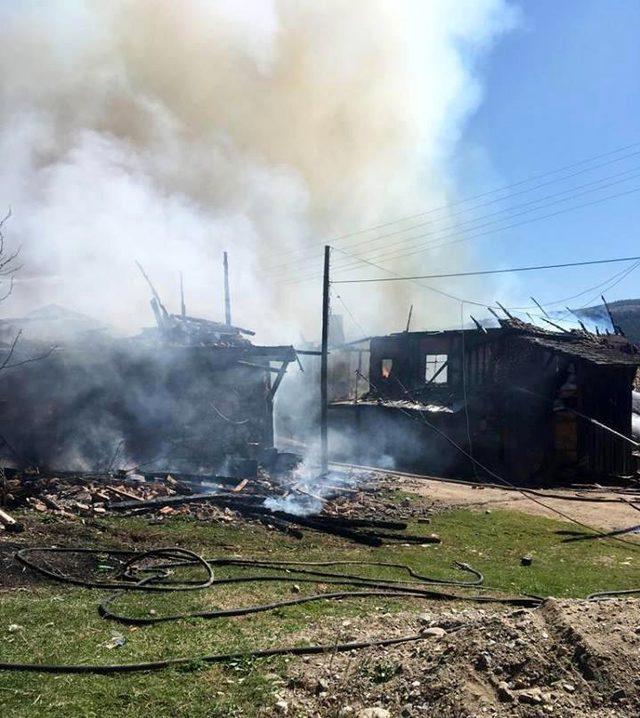 Kastamonu'da çıkan yangında iki ev kullanılamaz hale geldi