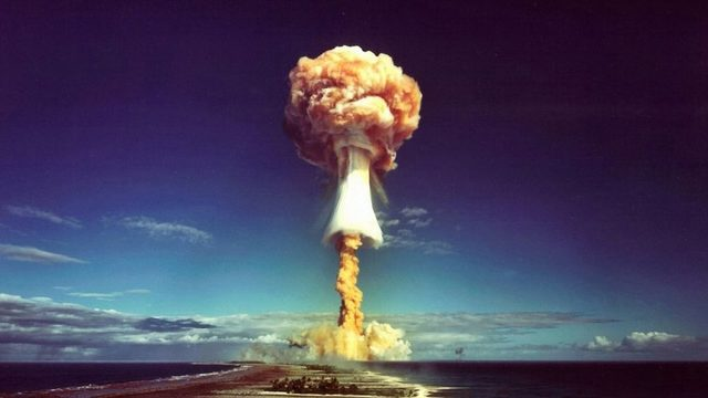 An atomic mushroom over the Pacific, a sight you really do not want to see