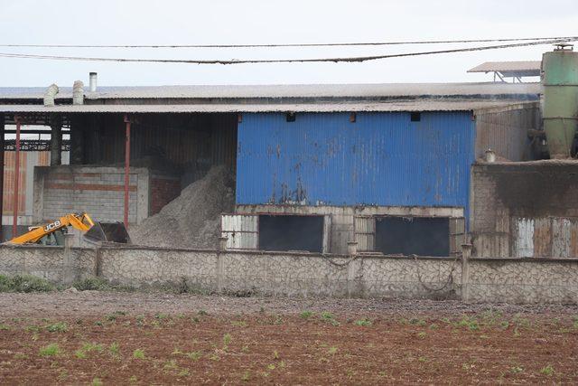 Çırçır fabrikasındaki üçüncü yangın, büyümeden söndürüldü