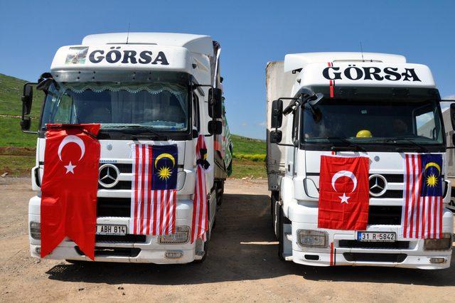 Türk Diyanet Vakfı ve Malezya işbirliği ile İdlib'e insani yardım