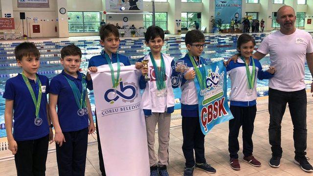 Çorlulu sporcular Kavala'da rekor kırdı