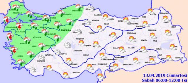 Ankara ve İstanbul´a ´sağanak´ uyarısı! Meteoroloji duyurdu İşte 13 Nisan Cumartesi hava durumu raporu1