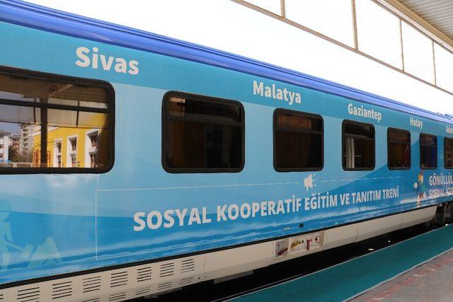 Sosyal Kooperatifler Eğitim ve Tanıtım Treni Sivas'ta