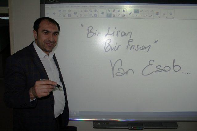 VAN ESOB dil kursu devam ediyor