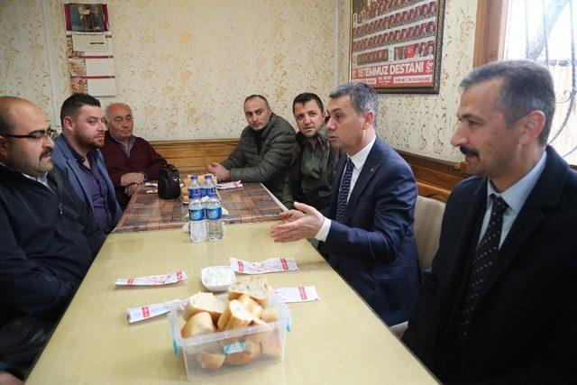 Başkan Şimşek, sanayi Sitesi esnafıyla sabah kahvaltısında buluştu