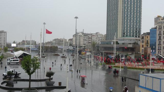 (ek bilgilerle) İstanbul'da yağmur ve dolu