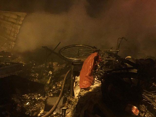 Aydın'daki ev yangınında 8 koyun telef oldu