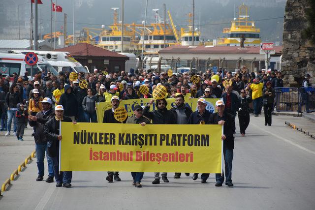 Sinop'ta Çernobil'in yıl dönümünde eylem