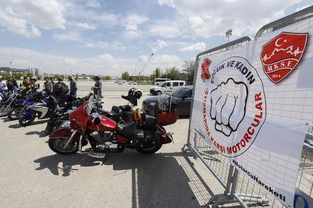 Ankara'da motosikletçilerden çocuk istismarına tepki