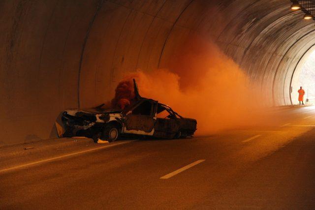 AFAD'tan tünelde kurtarma tatbikatı