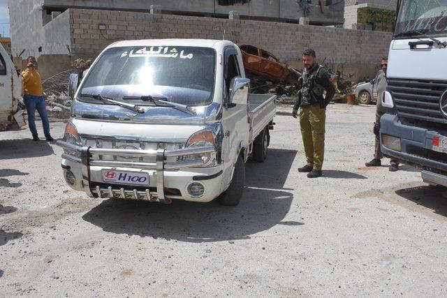 Azez'de Türk polisi araçları kayıt altına aldı, çalıntıları buldu