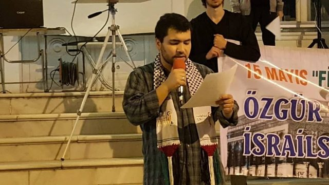 AKM önünde Filistin'e geri dönüş programı gerçekleşti