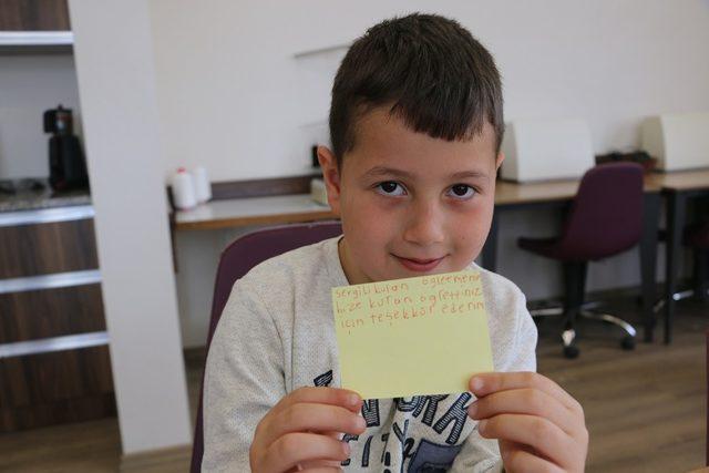 SGM öğrencilerinden teşekkür mektubu