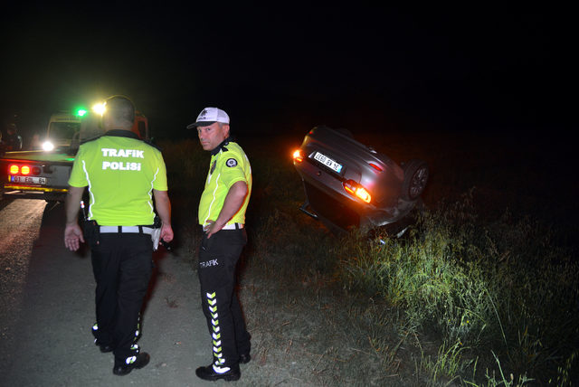 Otomobil, takla atıp, şarampole uçtu: 1 ölü