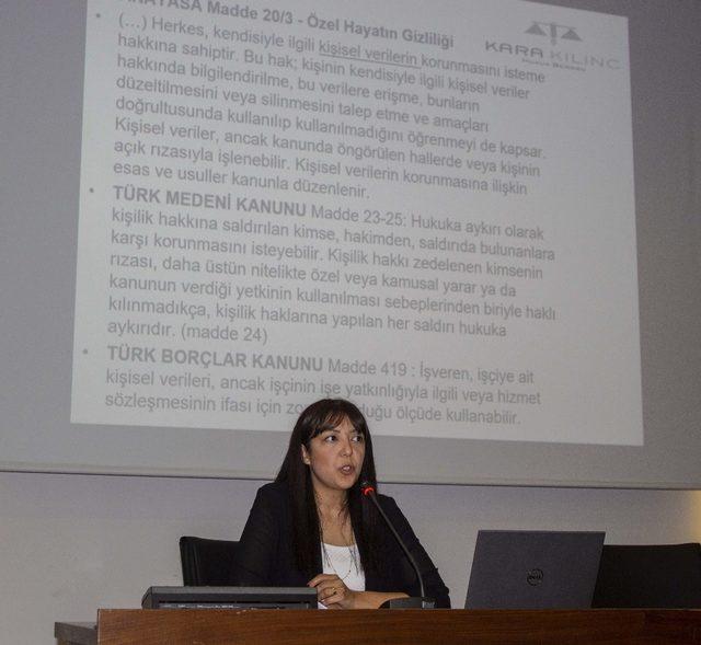 """AOSB Akademi'de """"Kişisel Verileri Koruma"""" konulu seminer"""