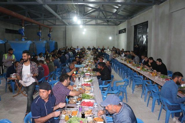 Emniyet Müdürü Ekici, işçilerle iftar açtı