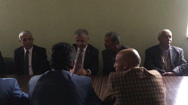 Arslan ve Kılıç, Nurcan'ın ailesine taziye ziyaretinde bulundu