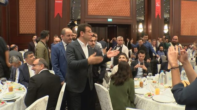 Ekrem İmamoğlu, Saadet Partisi'nin iftarına katıldı